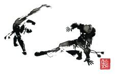 Encres : Capoeira – 604 [ #capoeira #watercolor #illustration] aquarelle sur papier 300gr / watercolor on paper 300gr 30 x 20 cm / 12 x 7.9 in