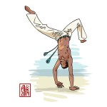Encres : Capoeira – 608 [ #capoeira #mypaint #illustration] Image digitale / Digital image 2000 x 2000 px