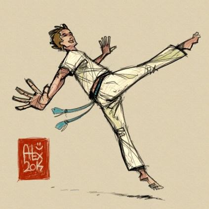Encres : Capoeira – 625 [ #capoeira #mypaint #illustration] Image digitale / Digital image 2000 x 2000 px