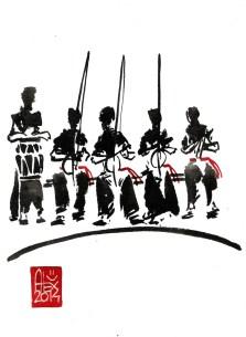 Encres : Capoeira – 626 [ #capoeira #watercolor #illustration] aquarelle sur papier 300gr / watercolor on paper 300gr 15 x 20 cm / 5.9 x 7.9 in