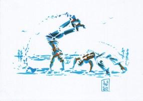 Encres : Capoeira – 051 [ #capoeira #watercolor #illustration]