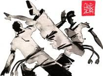 Illustration : Capoeira – 683 [ #capoeira #watercolor #illustration] aquarelle sur papier 180gr / watercolor on paper 180gr 12 x 16 cm / 4.7 x 6.3 in