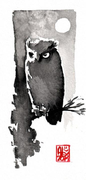 Aquarelle sur papier 300gr / Watercolor on paper 300gr 16 x 8 cm / 6.3 x 3.15 in