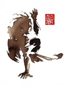 Illustration : Capoeira – 715 [ #capoeira #watercolor #illustration] aquarelle sur papier 325gr / watercolor on paper 325gr 12 x 16 cm / 4.7 x 6.30 in