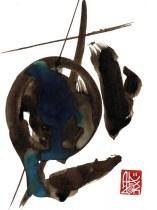 Illustration : Capoeira – 716 [ #capoeira #watercolor #illustration] aquarelle sur papier 325gr / watercolor on paper 325gr 12 x 16 cm / 4.7 x 6.30 in