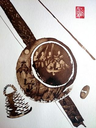 Illustration : Capoeira – 721 [ #capoeira #watercolor #illustration] aquarelle sur papier 325gr / watercolor on paper 325gr 24 x 32 cm / 9.4 x 12.6 in