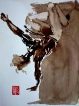 Illustration : Capoeira – 722 [ #capoeira #watercolor #illustration] aquarelle sur papier 325gr / watercolor on paper 325gr 24 x 32 cm / 9.4 x 12.6 in