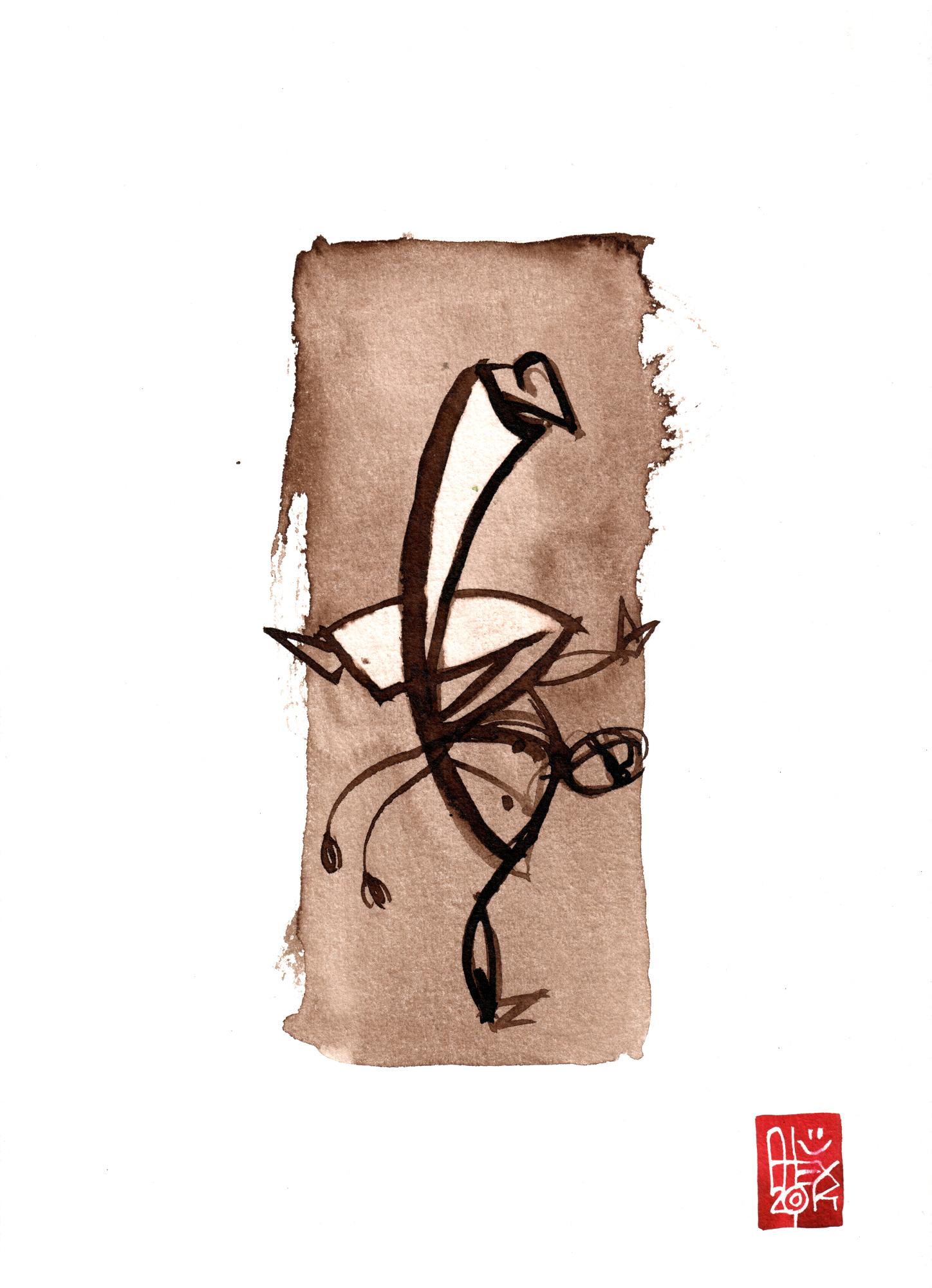 Illustration : Capoeira – 725 [ #capoeira #watercolor #illustration] aquarelle sur papier 325gr / watercolor on paper 325gr 24 x 32 cm / 9.4 x 12.6 in