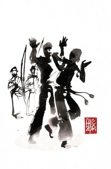 Illustration : Capoeira – 740 [ #capoeira #watercolor #illustration] aquarelle sur papier 325gr / watercolor on paper 325gr 24 x 16 cm / 9.4 x 6.3 in