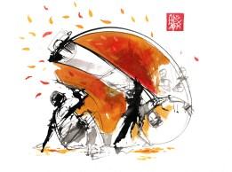 Illustration : Capoeira – 743 [ #capoeira #watercolor #illustration] aquarelle sur papier 325gr / watercolor on paper 325gr 24 x 32 cm / 9.4 x 12.6 in