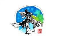 Illustration : Capoeira – 745 [ #capoeira #watercolor #illustration] aquarelle sur papier 325gr / watercolor on paper 325gr 24 x 32 cm / 9.4 x 12.6 in