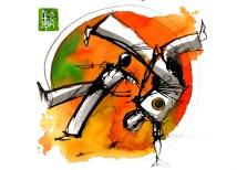 Illustration : Capoeira – 752 [ #capoeira #watercolor #illustration] aquarelle sur papier 325gr / watercolor on paper 325gr 24 x 32 cm / 9.4 x 12.6 in