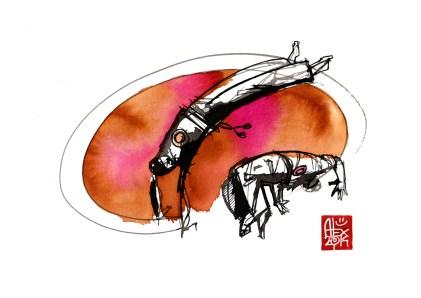 Illustration : Capoeira – 759 [ #capoeira #watercolor #illustration] aquarelle sur papier 325gr / watercolor on paper 325gr 24 x 32 cm / 9.4 x 12.6 in
