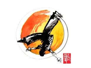 Illustration : Capoeira – 761 [ #capoeira #watercolor #illustration] aquarelle sur papier 325gr / watercolor on paper 325gr 24 x 32 cm / 9.4 x 12.6 in