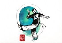 Illustration : Capoeira – 763 [ #capoeira #watercolor #illustration] aquarelle sur papier 325gr / watercolor on paper 325gr 24 x 32 cm / 9.4 x 12.6 in