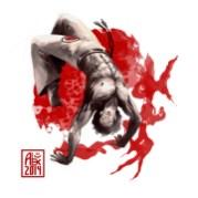 Encres : Capoeira – 768 [ #capoeira #CG #illustration] Illustration digitale réalisée avec Krita et the Gimp / Digital painting made with Krita and the Gimp
