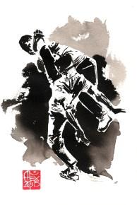 Illustration : Capoeira – 784 [ #capoeira #watercolor #illustration] aquarelle sur papier 325gr / watercolor on paper 325gr 28 x 11 cm / 11 x 4.3 in
