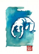 Illustration : Capoeira – 791 [ #capoeira #watercolor #illustration] aquarelle sur papier 325gr / watercolor on paper 325gr 19 x 14 cm / 7.5 x 5.5 in