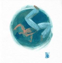 Illustration : Capoeira – 796 [ #capoeira #acrylic #illustration] acrylique sur toile / acrylic on canvas 21 x 21 cm / 8.4 x 8.4 in