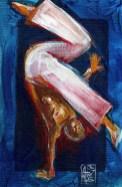 Illustration : Capoeira – 797 [ #capoeira #acrylic #illustration] acrylique sur toile / acrylic on canvas 15 x 21 cm / 5.7 x 8.4 in