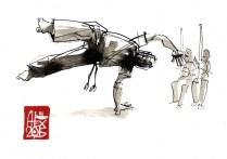 Illustration : Capoeira – 805 [ #capoeira #watercolor #illustration] aquarelle sur papier 300gr / watercolor on paper 300gr 10.5 x 14.8 cm / 4.1 x 5.8 in