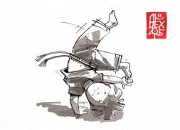 Illustration : Capoeira – 812 [ #capoeira #watercolor #illustration] aquarelle sur papier 300gr / watercolor on paper 300gr 10.5 x 14.8 cm / 4.1 x 5.8 in