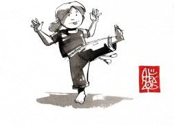 Illustration : Capoeira – 813 [ #capoeira #watercolor #illustration] aquarelle sur papier 300gr / watercolor on paper 300gr 10.5 x 14.8 cm / 4.1 x 5.8 in