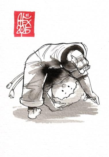 Illustration : Capoeira – 814 [ #capoeira #watercolor #illustration] aquarelle sur papier 300gr / watercolor on paper 300gr 10.5 x 14.8 cm / 4.1 x 5.8 in
