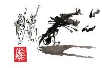Illustration : Capoeira – 817 [ #capoeira #watercolor #illustration] aquarelle sur papier 300gr / watercolor on paper 300gr 10.5 x 14.8 cm / 4.1 x 5.8 in