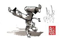 Illustration : Capoeira – 819 [ #capoeira #watercolor #illustration] aquarelle sur papier 300gr / watercolor on paper 300gr 10.5 x 14.8 cm / 4.1 x 5.8 in
