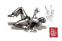 Illustration : Capoeira – 820 [ #capoeira #watercolor #illustration] aquarelle sur papier 300gr / watercolor on paper 300gr 10.5 x 14.8 cm / 4.1 x 5.8 in