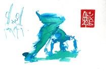 Illustration : Capoeira – 824 [ #capoeira #watercolor #illustration] aquarelle sur papier 300gr / watercolor on paper 300gr 10.5 x 14.8 cm / 4.1 x 5.8 in