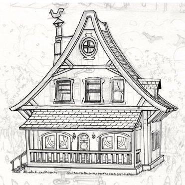 Encrage de la maison de la première planche