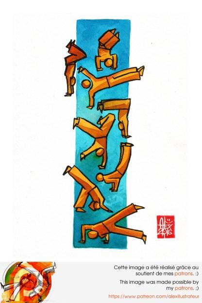 Aquarelle sur papier 200gr / watercolor on paper 200gr 21 x 14.8 cm / 8.2 x 5.8 in