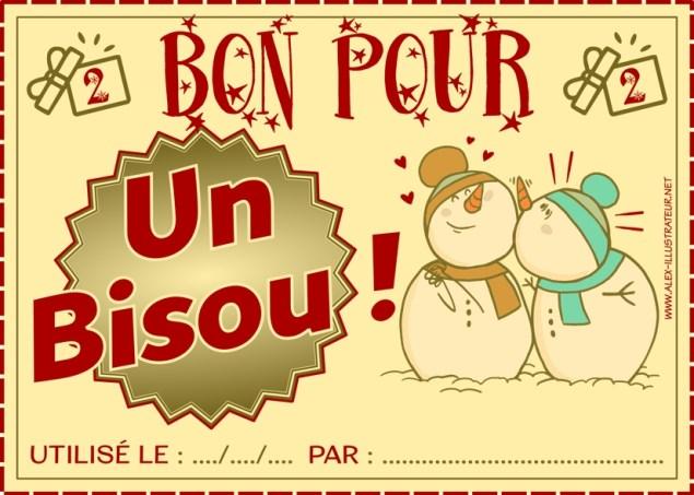 02 décembre : Bon pour un bisou à imprimer et donner à qui vous voulez !