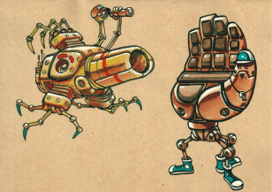 Le lanceur de balle robot et le receveur robot