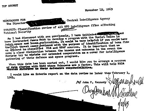 CIA Cover-Up in JFK's Secret UFO Inquiry First Discovered