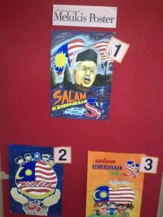 Pemenang peserta melukis poster kemerdekaan..Tahniah!