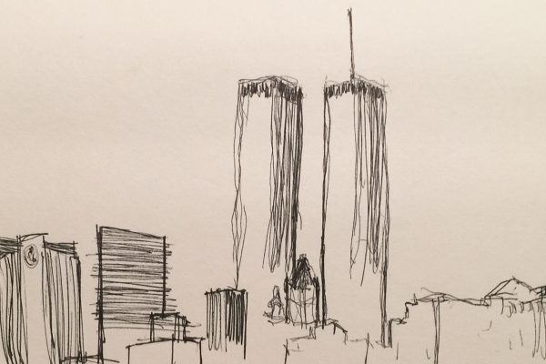 They deserve a better epigram.  Quickly jotted cityscape.