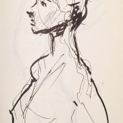 Gesture study, live model at Society of illustrators.