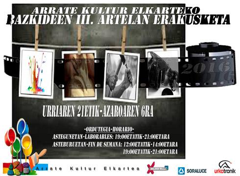 Arrate Kultur Elkarteko bazkideen erakusketa Topalekuan azaroaren 6ra arte