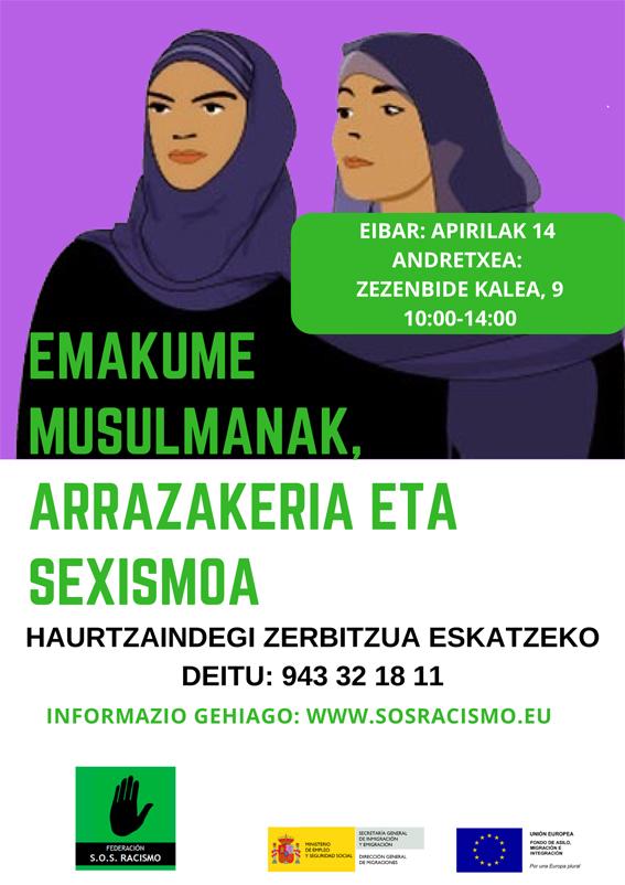 """Tailerra: """"Emakume musulmanak, arrazakeria eta sexismoaren aurka"""""""