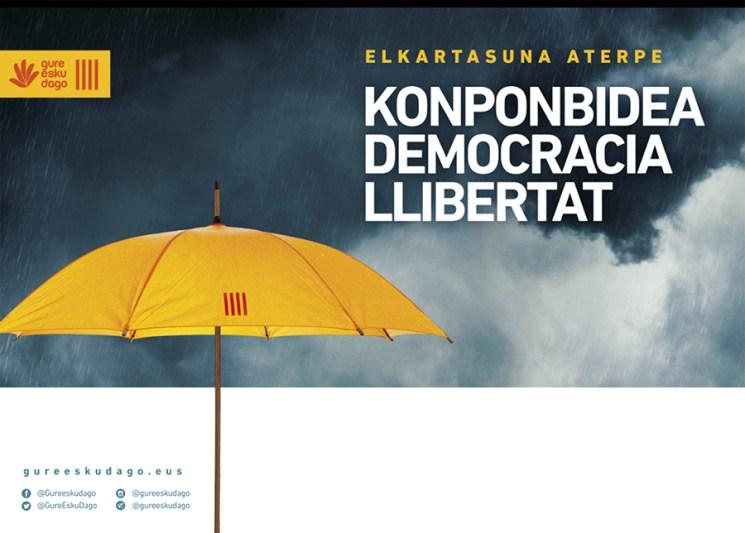 """Elkarretaratzea: """"Elkartasuna aterpe. Konponbidea, democracia, llibertat"""""""