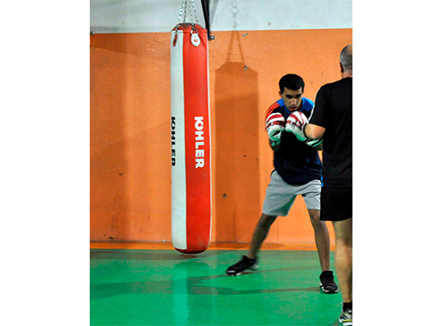 """Sohaib Abida, boxeolaria: """"Euskal Herrikoa izanda, oso eredu ona da Kerman Lejarraga"""""""