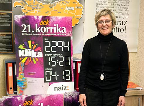 """Coral Calvo, Korrika-ko arduraduna Eibarren: """"Korrikako lekukoa hartzean energia berezia sentitzen da"""""""