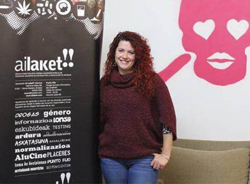 """Saioa Nuñez Guinea (AI LAKET!! ELKARTEA): """"Drogekin bizitzen jakin behar dugu"""""""