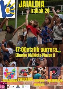 Berbetan jaialdia Bizikleta plazan @ Eibarko Bizikleta plaza