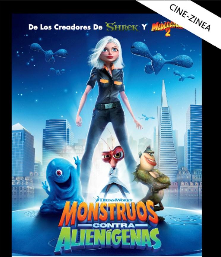 """Umeendako zinea: """"Monstruos contra alienigenas"""" (Dreamworks)"""