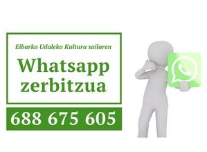 Kultura sailaren informazioa zabaltzeko Whatsapp zerbitzua ipini dute martxan
