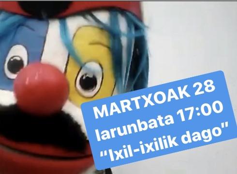 """""""Ixil-ixilik dago"""" abestiari laguntzeko partitura prestatu du Ustekabek"""